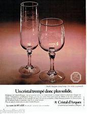 PUBLICITE ADVERTISING 036 1978  Cristal d'Arques  verres modèle Matignon