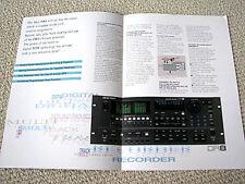 Akai DR-8 hard disc digital audio recorder brochure