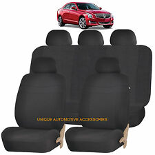 RED ELEGANT FRONT /& BACK SEAT COVERS SET for CADILLAC STS XTC SRX