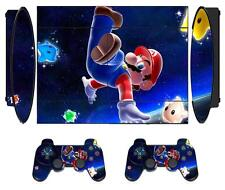 Mario 906 Skin Sticker for PS3 PlayStation 3 Super Slim with 2 controller skins