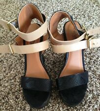 Charlotte Russe Strappy Platform Shoes Very Cute And Stylish Size 7
