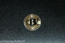 Bitcoin Coin (Collectible Medallion) Gold Plated 24K 1oz. US Fast Shipping.