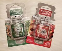 Yankee Candle MISTLETOE & CINNAMON Car Jar Ultimate Air Freshener Set Of 2