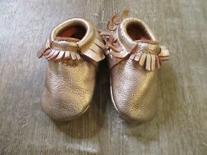 Freshly Picked Size 4 Rose Gold Moccasins Baby Girl Shoes
