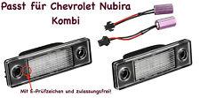 2x TOP LED SMD Kennzeichenbeleuchtung Chevrolet Nubira Kombi /2201/