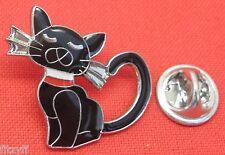 Pussy Cat Lapel Pin Badge Animal Kitten Brooch