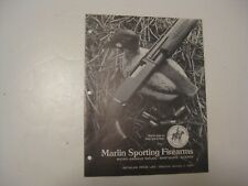 RARE VINTAGE 1974 MARLIN GUN RIFLE SHOTGUN SCOPE MANUAL CATALOG ~ L@@K ~