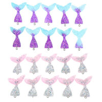 20Pcs Resin Mermaid Tail Charms Pendants DIY Jewelry Necklace Craft Supplies