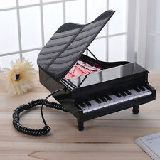 Novelty Piano Shape Cord Phone Wired Home Desktop Stretching Creative Telephone