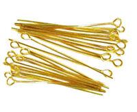 100  4cm GOLD ÖSE KETTELSTIFTE NADEL NIETSTIFTE ZUBEHÖR KOPFSTIFT M199