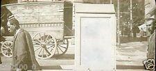 le Mont Doré .Auvergne .plaque en verre . positif . chaise à porteurs
