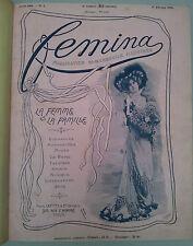 Femina 1901 / 1902  du numéro 1 au numéro  25 (février 1902) relié