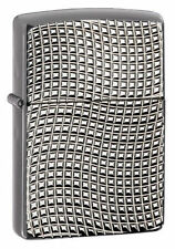 Zippo 28544, Armor, Brite Cut, Black Ice Chrome Finish Lighter, Full Size