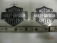 AMF GAS TANK DECALS STICKERS HARLEY FX LOW RIDER SPORTSTER BAR SHIELD SILVER