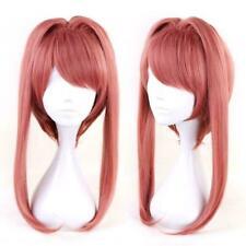 95cm Game Doki Doki Literature Club Monika Cosplay Long Pink Wig Wig Ponyta E7W6