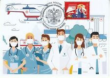 Russia 2020 Fight Against Ambulance Fight Against Pandemic 19 physicians medicin