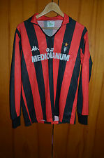 AC MILAN ITALY 1987/1989 MEDIOLANUM HOME FOOTBALL SHIRT JERSEY KAPPA LONG SLEEVE