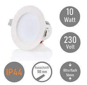 IP44 LED Einbaustrahler Bad 10W Einbauleuchte 850 Lm Deckenspot Badezimmer 3000K