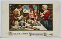 John Winsch Thanksgiving Day 1620 Indian Peace Dinner 1914 Embossed Postcard L3