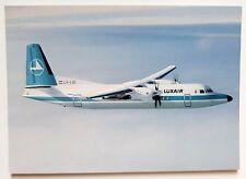 Luxair Fokker F-50 Postcard