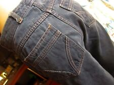 27x31 Vtg 70s Womens High Waist Denim Sears Disco Pocket Bootcut Disco Jeans