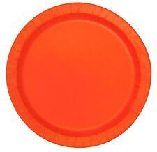 8 grandes assiettes Orange - Taille Unique -