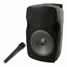 QTX Portable PA With Bluetooth and LED FX - Microphone Wedding DJ Speaker Mp3