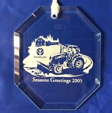 2009 New Holland Octagonal Etched Holiday Ornament Tractor with blade SUS0939DS
