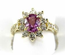 Natural Oval Pink Tourmaline & Diamond Solitaire Ring 14k Yellow Gold 2.52Ct