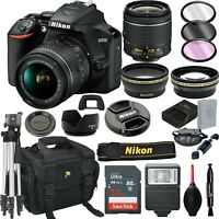 Nikon D3500 Digital SLR Camera Black + 18-55mm VR Lens + 32GB Bundle + More