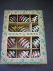 Vintage Shiny Brite Christmas Tree Ornaments Mica Lanterns ( set of 12) Boxed