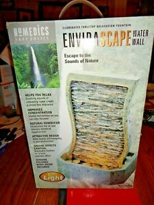 Homedics Envirascape WATER WALL W/LIGHT 13 1/2'' TALL, NEW IN BOX