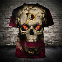 Washington Redskins 3D Short Sleeve T-Shirt Casual Tops Tee NFL fan's Gift