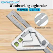 1x Multi-function Triangle Ruler-Wood Measuring Guide-Speed Square Roofing New