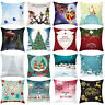 HD_ KQ_ BL_ Christmas Square Throw Pillow Case Waist Cushion Cover Sofa Home Dec