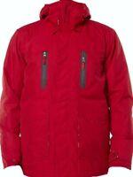 BILLABONG Men's SOLID INS Snow Jacket - Red - Medium - NWT