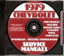 CHEVROLET 1979 Impala, Caprice, Monte Carlo & Corvette Shop Manual CD