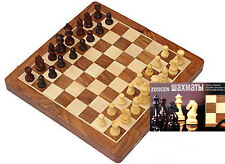 Wooden Board Game Set Travel Games Backgammon Chess Dominoes