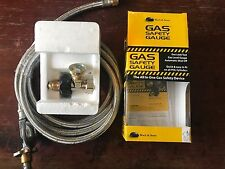 Gas Safety Gauge POL  LPG & Regulator 3 M hose  Caravan Camping BBQ RV Motorhome