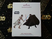 New ListingStar Wars Hallmark Keepsake Ornament 2019 Rey Kylo Ren Rise of Skywalker New !