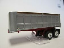 1St Gear 1/64 Scale Dump Trailer, Silver Tub, Red Frame, Dcp Tires & Wheels