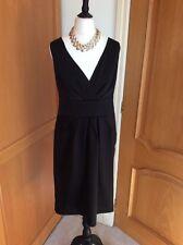 Tipo di raso nero little black dress size 14 matita Deby + Collana Di Qualità