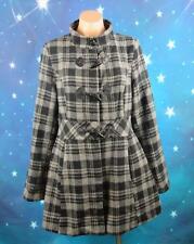 Caroline Morgan, Size 14 Womans, Black & Gray Check Duffle Coat