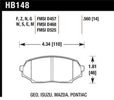 Hawk 90-93 Geo Storm / 90-92 Isuzu Impulse / 90-93 Mazda Miata DTC-60 Front Race