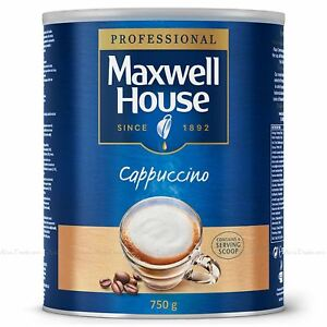 Maxwell House Cappuccino Coffee Large Tin 750g Instant Capuchino Just Add Water