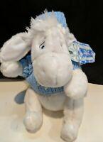 EEYORE DISNEY STORE Exclusive Sweater White Eeyore Blue White Plush 12 inches