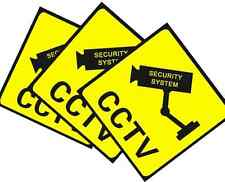 3 PCS Home CCTV Surveillance Security Camera Sticker Warning Decal Signs