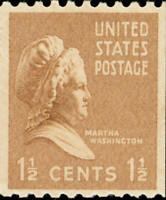 Scott#: 849 - Martha Washington Single Stamp MNH OG -- Free Shipping --