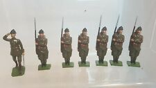 7 Metal Toy Soldiers- Belgian Infantry (154)