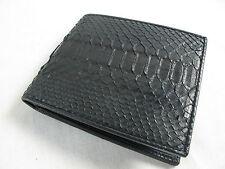 Genuine Black Belly Python Snake Skin Leather Mens Bifold Wallet + FREE SHIPPING